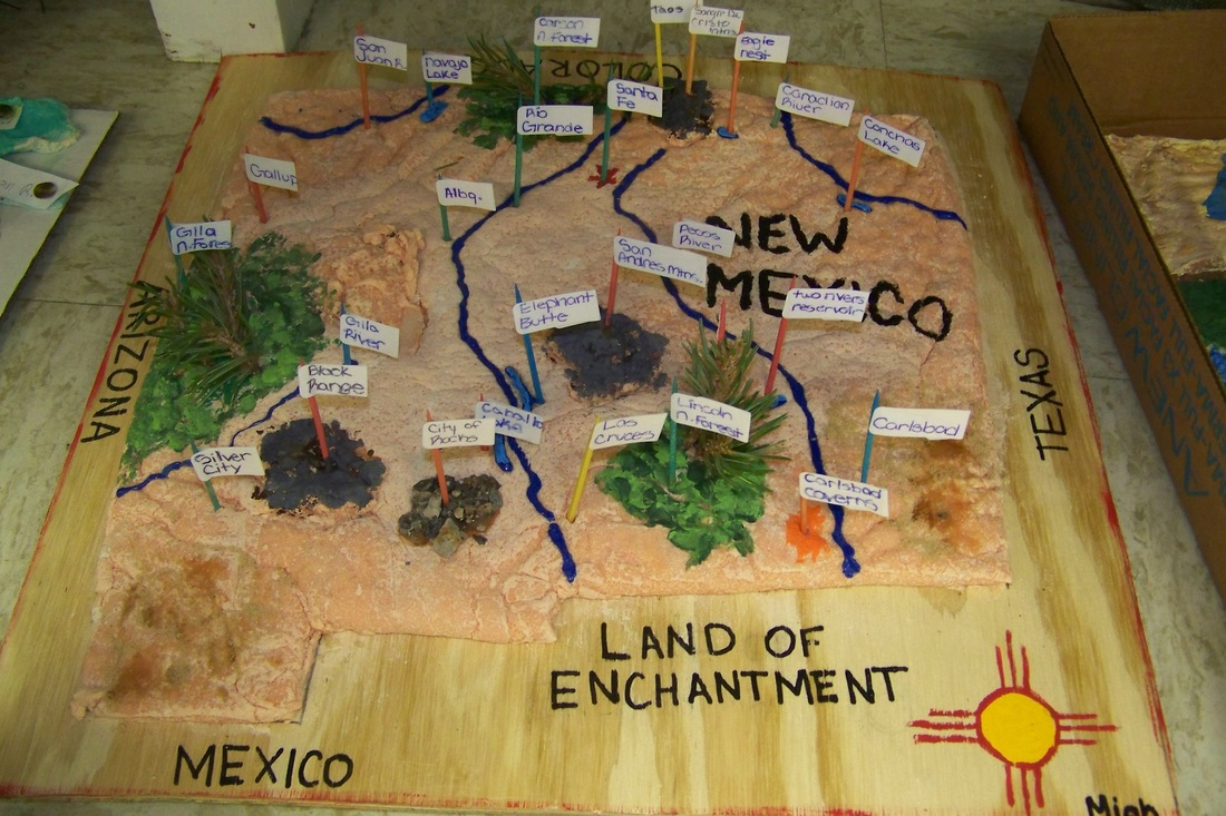 3-D Map Project - Mrs. Jones\' Online Classroom